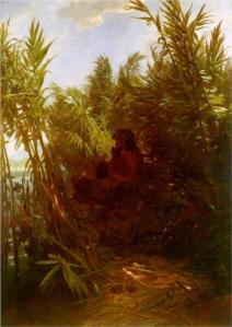 Pan Among the Reeds, painting by Arnold Böcklin