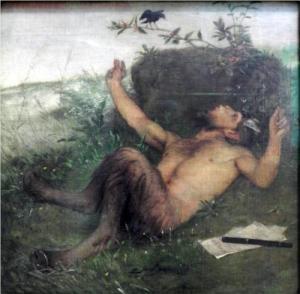 Pan Whistling at a Blackbird, 1863